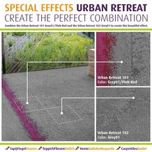 Combine the Urban Retreat  Grey01/Pink-Red      and the Urban Retreat  Grey01  to create this beautiful effect.